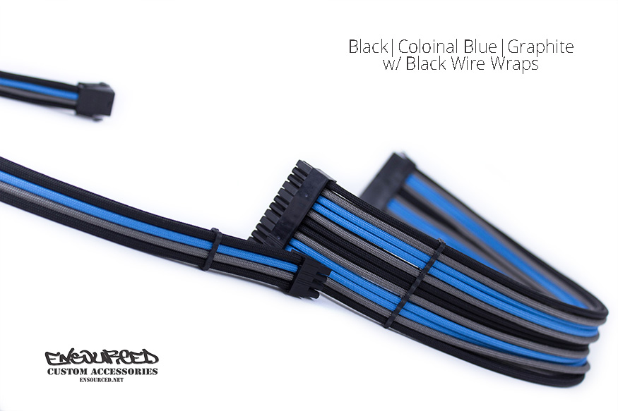 Black|Colonial Blue|Graphite - Ensourced Custom Accessories