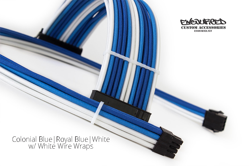 Colonial Blue|Royal Blue|White - Ensourced Custom Accessories