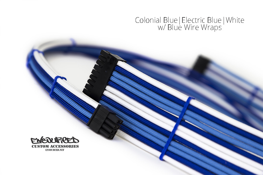 Colonial Blue|Electric Blue|White - Ensourced Custom Accessories