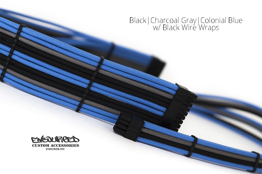 Black|Charcoal Gray|Colonial Blue - Ensourced Custom Accessories